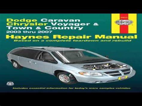 hayes auto repair manual 2007 dodge grand caravan instrument cluster dodge caravan chrysler voyager town country 2003 thru 2007 haynes automotive repair manual youtube