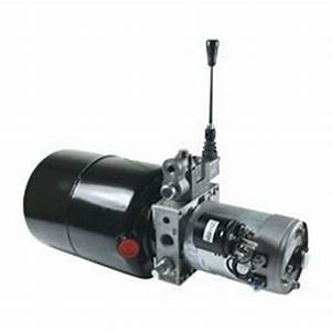 12v Dc Single Acting Manual Lever Operated Hydraulic Power