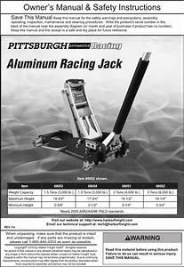 68051 Floor Jack Manual