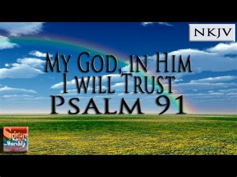 psalm  scripture song  god     trust