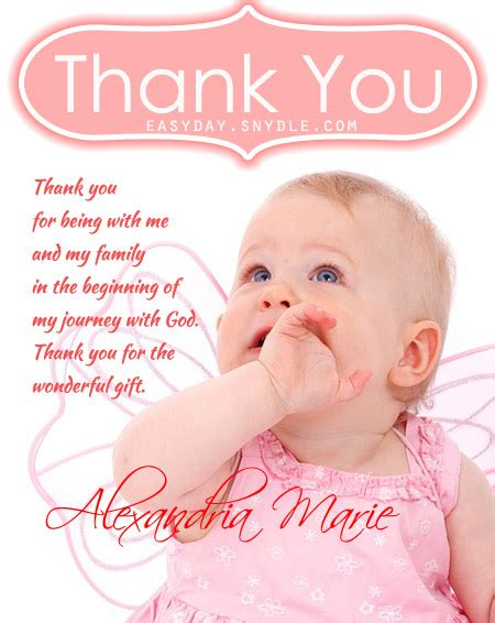Baptism Thank You Message