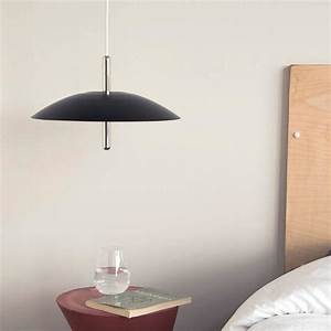 Signal pendant light from souda black and nickel accents