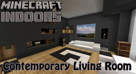 contemporary living room minecraft indoors interior