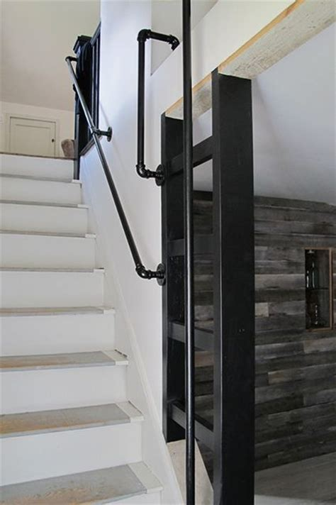 plumbing pipe handrail 17 best images about stairs for loft conversion ideas on 1556