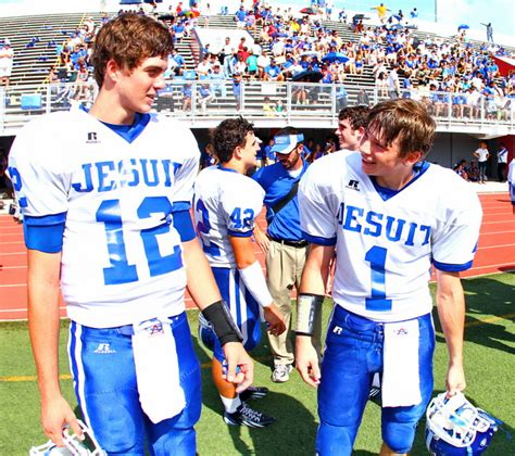 jesuit football athletes recognized louisiana sports writers