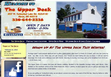 deck portage lakes history portage lakes ohio events entertainment akron oh 44319
