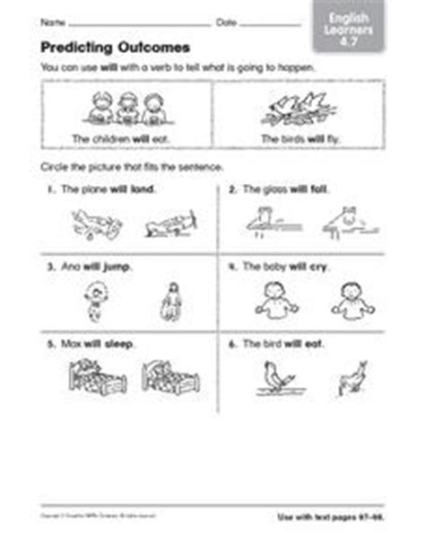 predicting outcomes esl vocabulary worksheet for 1st