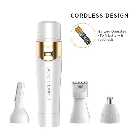 flawless womens painless hair removal electric hair shaver