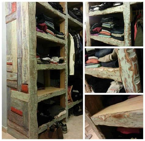colorful closet   reclaimed pallet wood  pallets