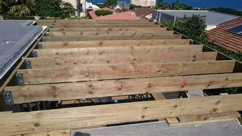 Wooden deck and stairs built in Umhlanga, Durban   The