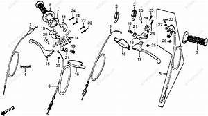Honda Motorcycle 1978 Oem Parts Diagram For Handle Lever