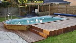 les 25 meilleures idees concernant piscine semi enterree With attractive terrasse en bois pour piscine hors sol 7 installer une mini piscine