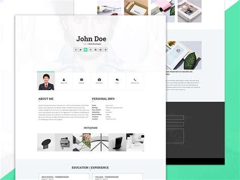 personal portfolio template free html5 website templates 7 designazure