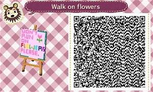 don't run on flowers sign acnl qr code | Animal Crossing ...
