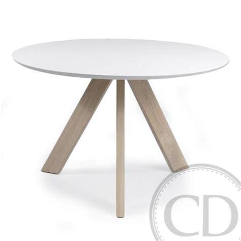 Table De Cuisine Ronde Blanche Scandinave Sur Cdc Design