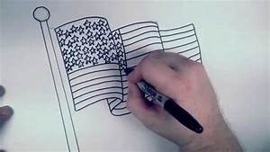 How To Draw An American Flag Rbh Youtube