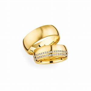 Matching pair 18ct yellow gold double row wedding rings for Wedding ring christian