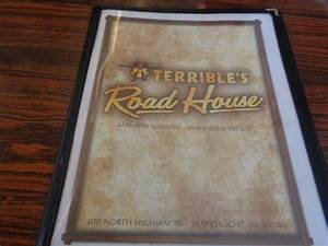 menu - Picture of Terrible's Roadhouse Casino, Searchlight ...