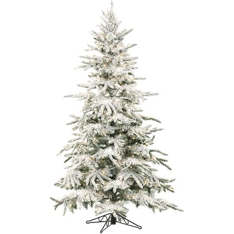 4 Ft Pre Lit Led Christmas Tree by Fraser Hill Farm Mountain Pine 7 5 Green Artificial