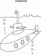 Submarine Coloring Pages Printable Popular sketch template