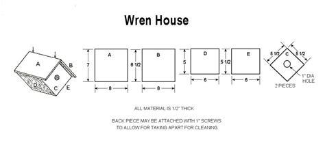 build  wren bird house   plans craftybirdscom