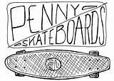 Skateboards Drawing Penny Getdrawings sketch template