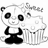 Panda Coloring Cute Pages Getcoloringpages sketch template