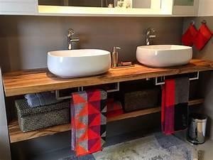 Badezimmer Unterschrank Holz : 99 waschtischplatte holz selber bauen ideen ~ One.caynefoto.club Haus und Dekorationen