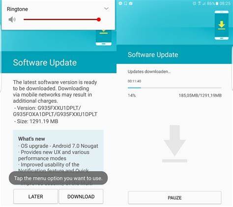 android software update galaxy s7 edge firmware android 7 0 nougat