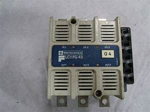 Telemecanique Lc1fg43 Contactor 3 Pole 200 Amp 600 Volt 150 Hp 120 V Coil