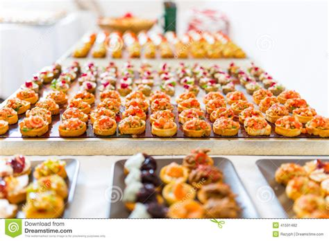 canape buffle canapes buffet stock photo image of catering appetizing