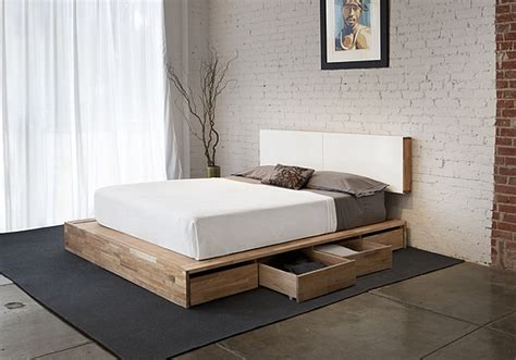 Platform Bed Storage by Minimalist Wooden Decor Offers Organic Small Space Solutions