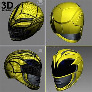 3d Blueprint Design Software 3d Printable Model The Yellow Ranger Helmet From New