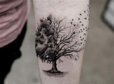 tatouage arbre pin laurier chene bouleau olivier