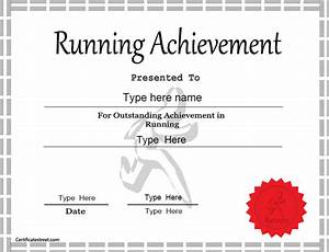 sports certificates template for achievement in running With running certificates templates free