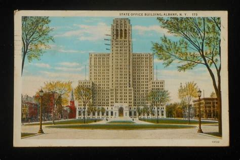 1932 State Office Building Albany NY Postcard New York
