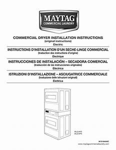 Commercial Dryer Installation Instructions Instructions D