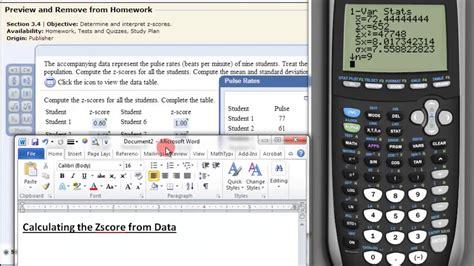 calculating  zscore  data   ti  calculator youtube