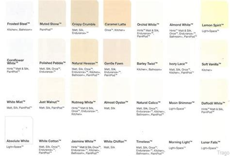 dulux white colour chart search paints behr paints
