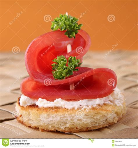 canape stock canape appetizer stock photo image 19057850