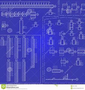 Electrical Wiring Diagram Background Stock Vector