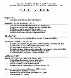 7 sample high school resume templates sample templates for Easy resume template for high school students
