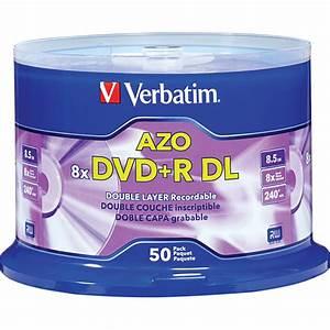 Double Layer Dvd : verbatim dvd r double layer 8 5gb 8x recordable disc 97000 b h ~ Kayakingforconservation.com Haus und Dekorationen