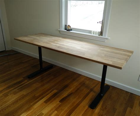 countertop desk for office butcher block countertop table ikea hack butcher block