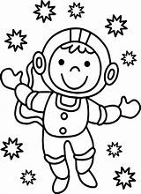 Astronaut Coloring Pages Spaceman Printable Cartoon Sheet Getdrawings Getcolorings Cool Coloringbay Contemporary Colorings sketch template