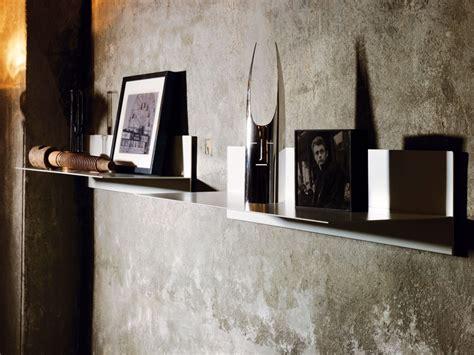 muro a mensola mensola a muro linea in acciaio 100 cm bianco nero grigio