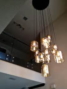 furniture modern glass staircase custom chandelier blown