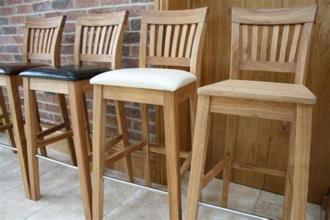 Breakfast Bar Chairs by Oak Bar Stools Kitchen Stools Oak Breakfast Bar