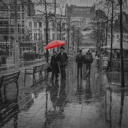 Raining Lluvia Fotos Gifs Bajo Rain Umbrella