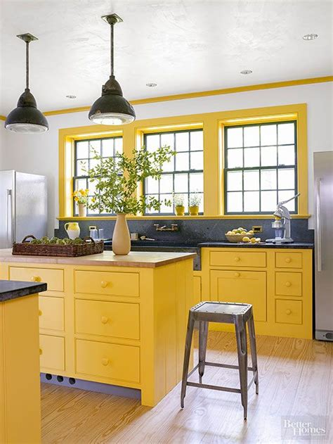 yellow and white kitchen cabinets colored kitchen cabinets inspiration the inspired room 1985